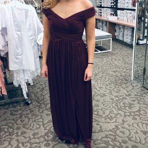 Bridesmaid Dress - David's Bridal dress in plum